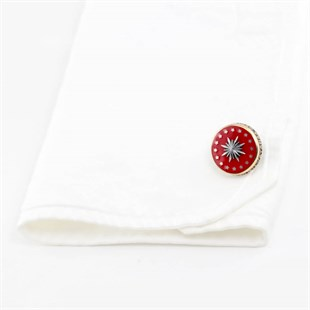 Presidents Badge Silver Cufflinks